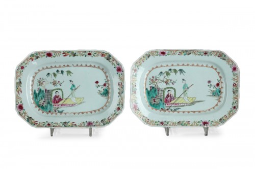 Pair of meat dishes, China Mid 18th century