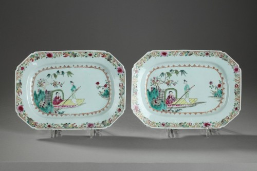 18th century - Pair of meat dishes, China Mid 18th century