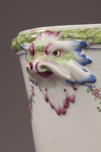 Porcelain & Faience  - BOURG LA REINE : Soft paste Flowerpot. Mid 18th century.