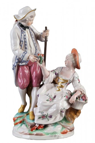 Niderviller Faience group. Mid 18th century