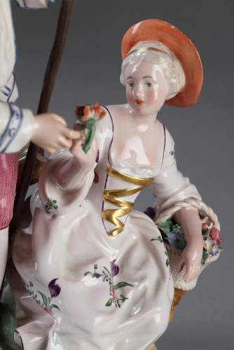 Niderviller Faience group. Mid 18th century - Porcelain & Faience Style