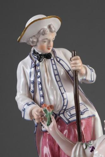18th century - Niderviller Faience group. Mid 18th century
