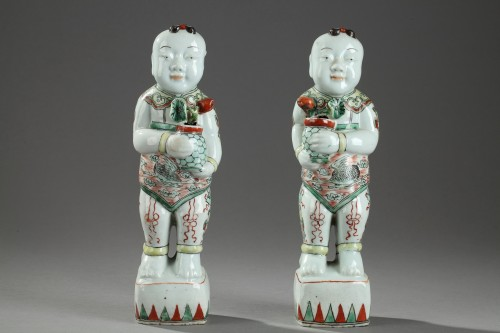 Famille vert Hoho, China late 17th century - Porcelain & Faience Style
