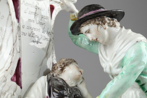 Porcelain & Faience  - Boselli manufacture at Savone, Watch holder. second half of 18 th century
