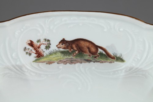 18th century - MEISSEN : Porcelain dish circa 1750.