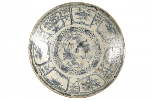 Porcelain circular dish, South China (Swatow) early 17th century