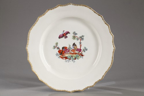 Soft porcelain plate of Tournai, France second half of the 18th century