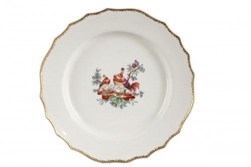 Tournai Soft-paste porcelain plate, second hald of 18th century