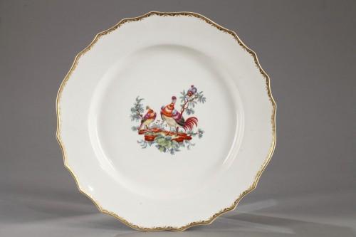 Porcelain & Faience  - Tournai Soft-paste porcelain plate, second hald of 18th century