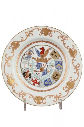 Chinaarmorial plate Van Reverhorst family Circa 1745