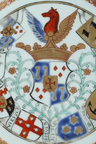Chinaarmorial plate Van Reverhorst family Circa 1745 - Porcelain & Faience Style