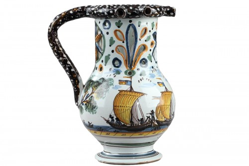 Nevers Trick jug circa dated 1809