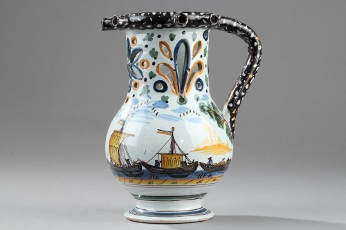 Porcelain & Faience  - NEVERS : Trick jug circa dated 1809