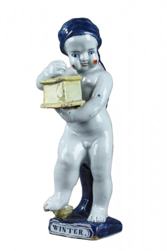 18th century Delft Figure