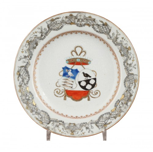 18th century Export China Porcelain, armorial plate