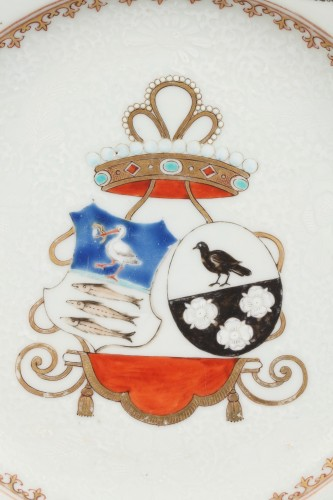 Porcelain & Faience  - 18th century Export China Porcelain, armorial plate
