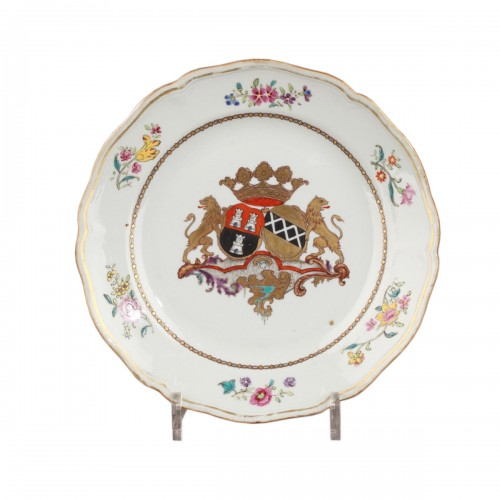 18th century China Export Porcelain, armorial plate