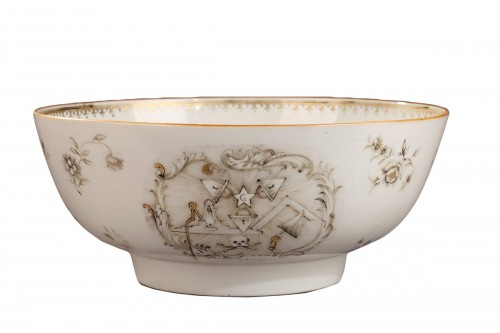 CHINA : Exportware masonique bowl mid 18th century