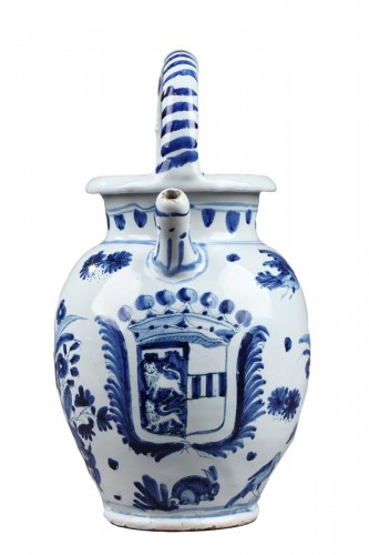 Faience Ewer from Nevers, circa 1650 - 1660