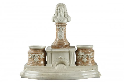 "Inkstand in ""Faience Fine"" from Gerardmer"