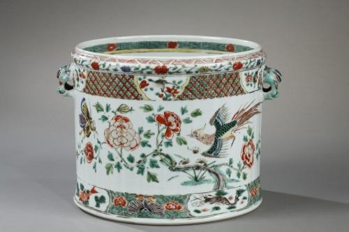 Porcelain & Faience  - Chinese wine cooler Kangxi 1662 - 1722