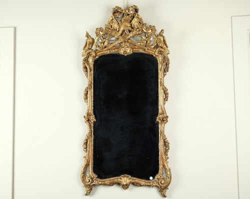 18th century Giltwood Wall Mirror - Mirrors, Trumeau Style Louis XV