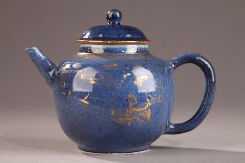 CHINA : Powder blue teapot. Kangxi (1662 - 1722) -