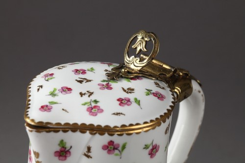 French Sèvres Water jug and bol, year 1784. Silver-gilt mount 1783 - 1786 -