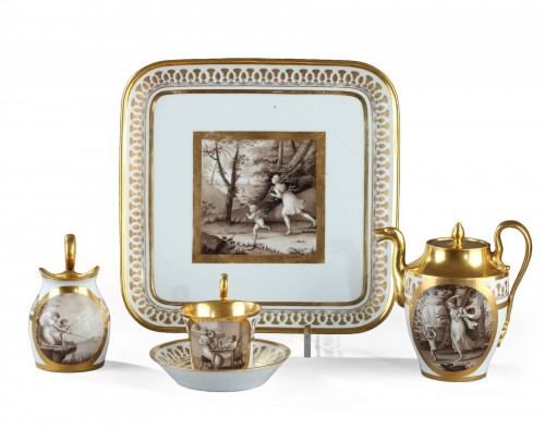 Doccia teaset, begining of 19th century