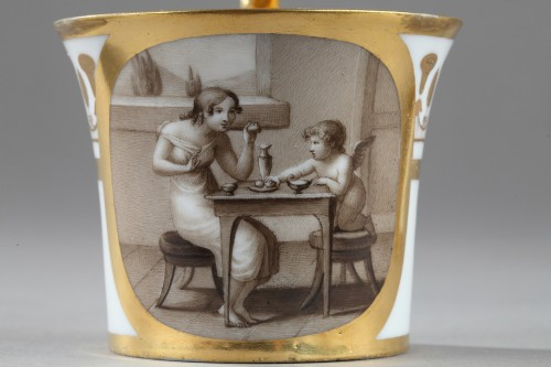 Porcelain & Faience  - Doccia teaset, begining of 19th century
