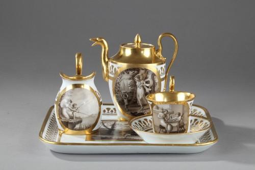 Antiquités - Doccia teaset, begining of 19th century