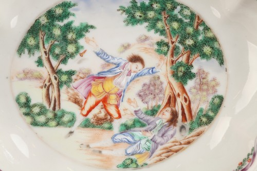 Chinese little dish, second half of 18th century - Porcelain & Faience Style