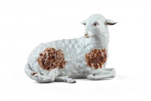 Meissen porcelain sheep 18th century
