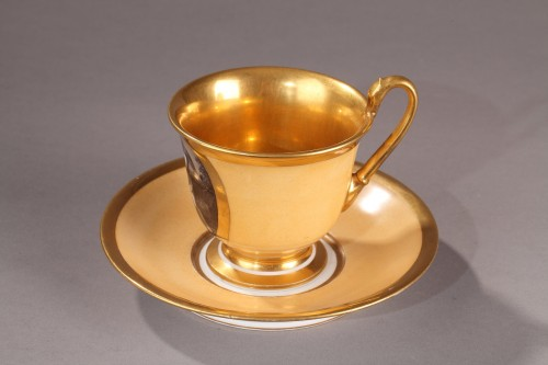 - Large cup and saucer, begining of 19th century