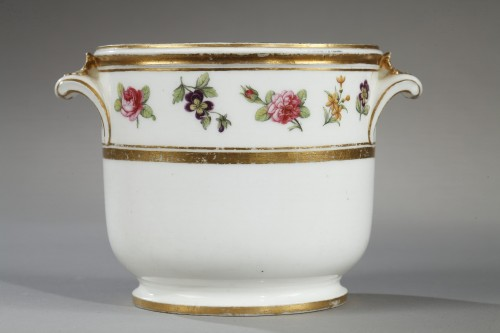 Porcelain & Faience  - Soft paste glass cooler Sevres second half of 18th century