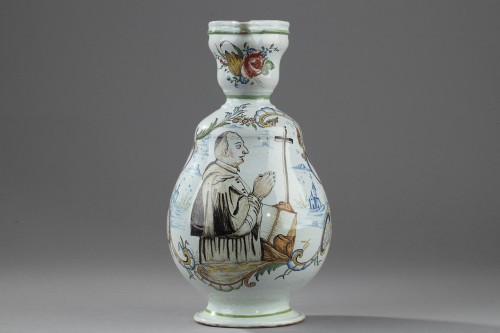 Porcelain & Faience  - Faience  Cider jug from Sinceny or Rouen Circa 1802