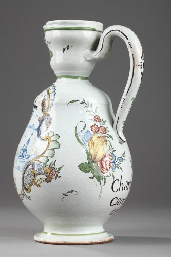 Faience  Cider jug from Sinceny or Rouen Circa 1802 -