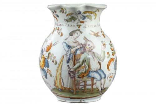 Faience jug from Talavera de la Rena Circa 1770 - 1780