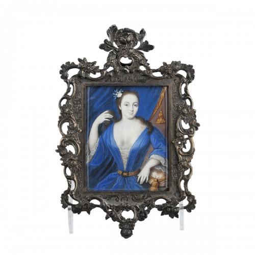 J Bisson 's miniature 18th century