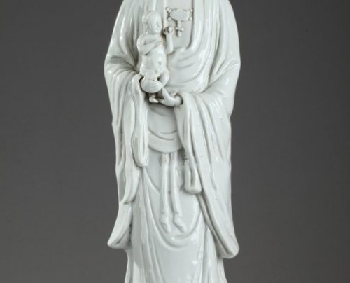 CHINA : Kangxi Large Blanc de Chine Guanying for the Dutch market. - Porcelain & Faience Style