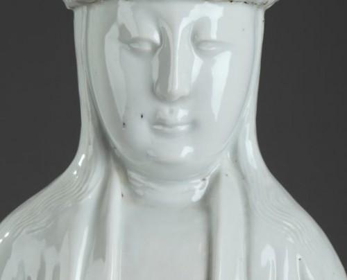 18th century - CHINA : Kangxi Large Blanc de Chine Guanying for the Dutch market.