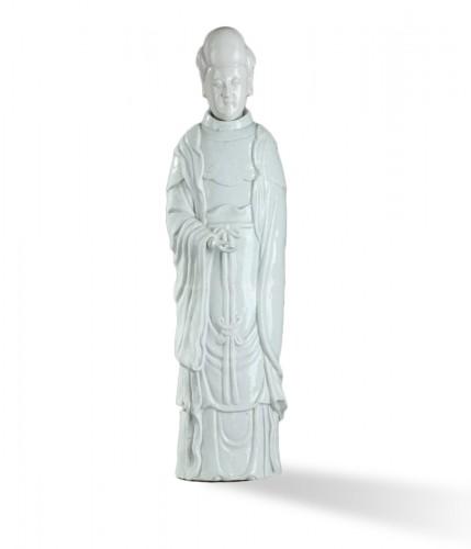 CHINA : Kangxi (1662 - 1722)  Large Blanc de Chine guanyin.
