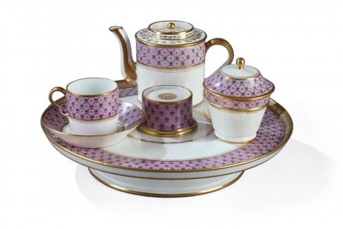 "Set called ""egoiste"" in Paris porcelain, late 18th century"