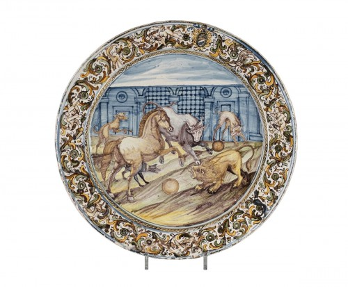 Mid 17th century faience dish from Castelli (Italy)