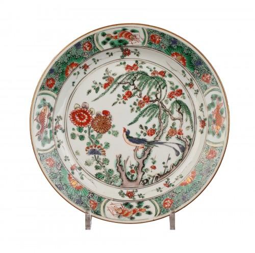 CHINA : Kangxi Famille Verte enamel plate.