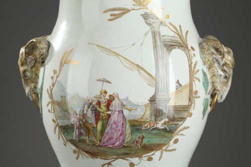 Large faïence vase from Marseille Circa 1750 - 1760 -