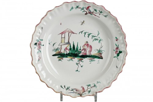 Moustiers faience dish circa 1760 - 1770