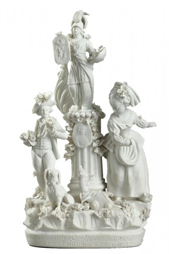 Group in Paris porcelain (Locre) circa 1791