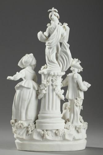 Porcelain & Faience  - Group in Paris porcelain (Locre) circa 1791