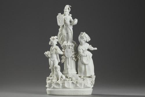 Group in Paris porcelain (Locre) circa 1791 -